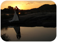 Sunset Wedding by the Lake